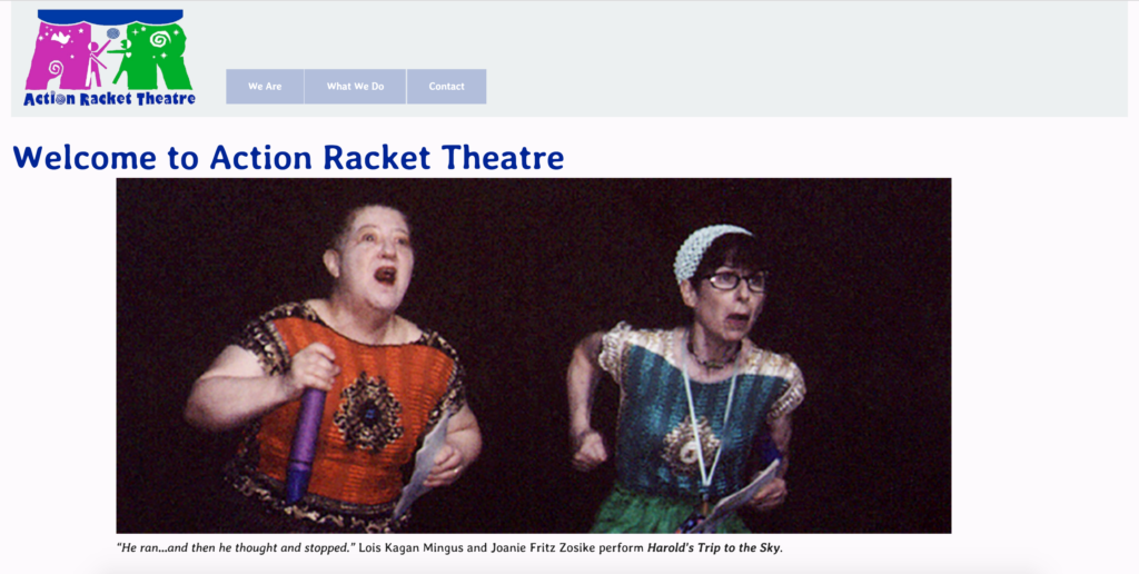 Action Racket Theatre Web Site Beta