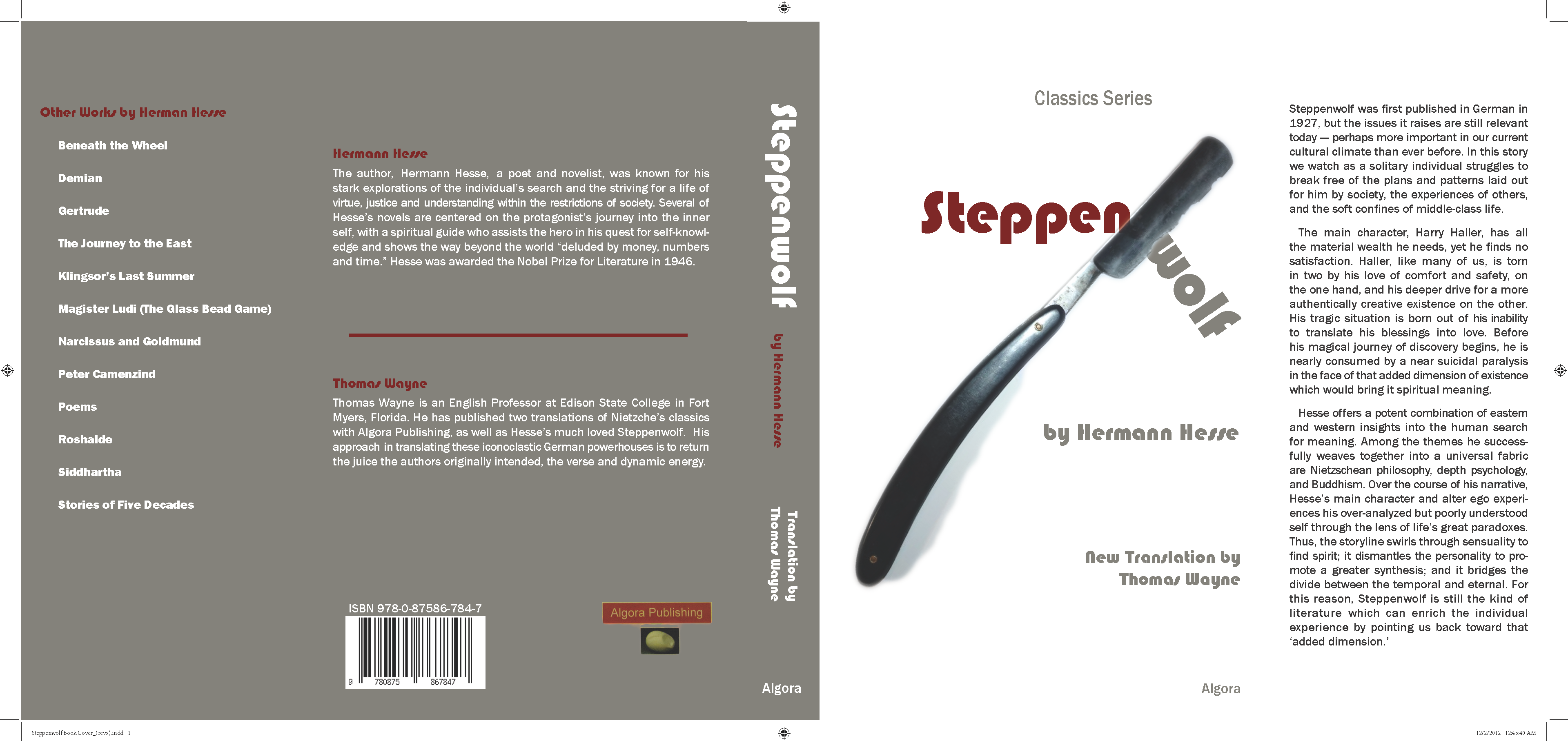Steppenwolf Book Jacket